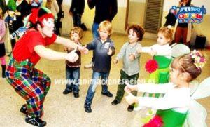 Animadores de fiestas con niños