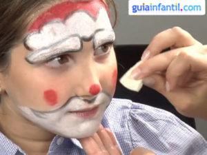 Maquillaje infantil Papá Noel