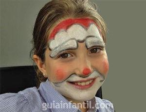 Maquillaje infantiles de Papá Noel