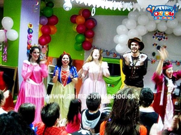 Fiestas de cumpleaños infantiles temáticas de princesas en Pamplona