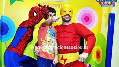 Animaciones de fiestas infantiles temáticas de Ladybug y Super Wing